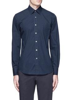 CanaliSlim fit paisley print cotton shirt