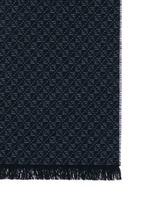 Diamond pattern wool-cashmere-silk scarf