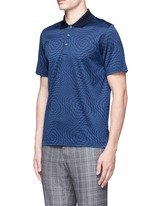 Houndstooth cotton polo shirt