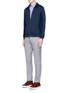 CanaliFleece wool jersey track jacket