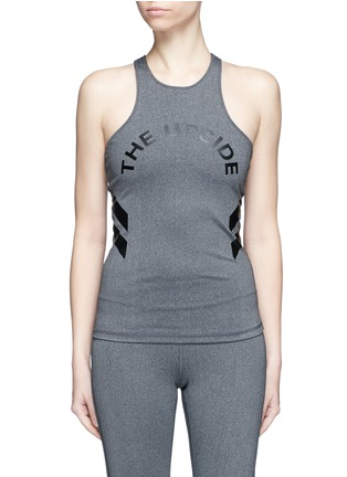 Main View - Click To Enlarge - The Upside - 'Yana' racerback logo performance tank top