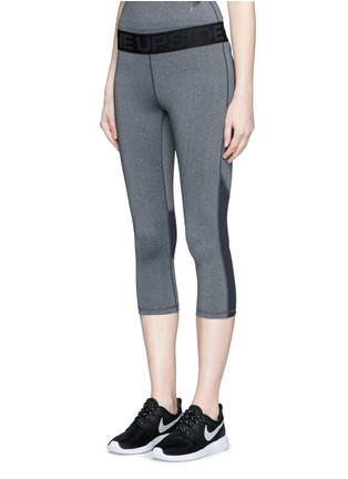 Front View - Click To Enlarge - The Upside - 'Guru NYC' performance capri leggings