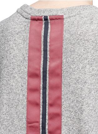 Detail View - Click To Enlarge - The Upside - 'Cortina' flocked logo ribbon trim sweatshirt