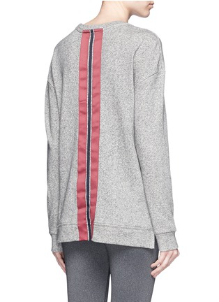 Back View - Click To Enlarge - The Upside - 'Cortina' flocked logo ribbon trim sweatshirt