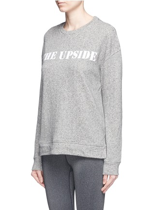 Front View - Click To Enlarge - The Upside - 'Cortina' flocked logo ribbon trim sweatshirt