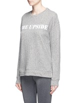 'Cortina' flocked logo ribbon trim sweatshirt