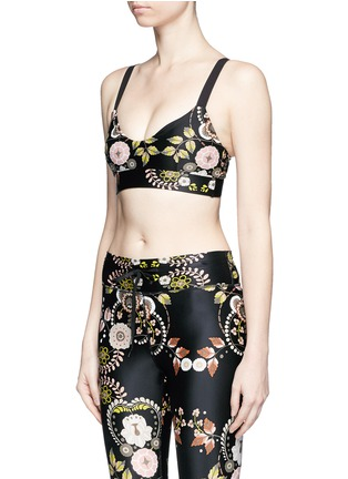 Front View - Click To Enlarge - The Upside - 'Varese Dance' floral print sports bra top