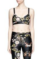 'Varese Dance' floral print sports bra top