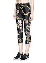 'Varese NYC' floral print performance capri leggings