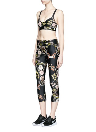 Figure View - Click To Enlarge - The Upside - 'Varese NYC' floral print performance capri leggings