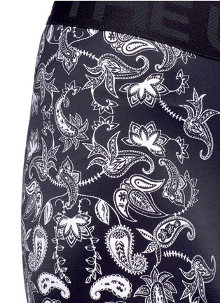 Detail View - Click To Enlarge - The Upside - 'Etched Paisley Guru NYC' performance leggings