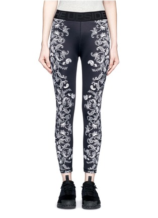 Main View - Click To Enlarge - The Upside - 'Etched Paisley Guru NYC' performance leggings