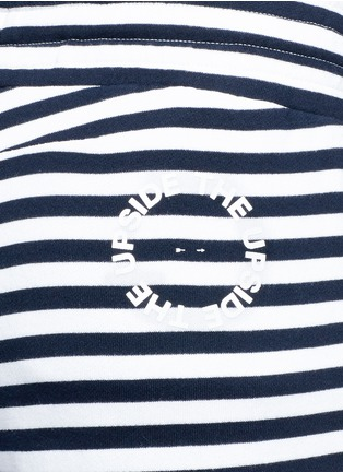 Detail View - Click To Enlarge - The Upside - 'The Como' stripe French terry sweatpants