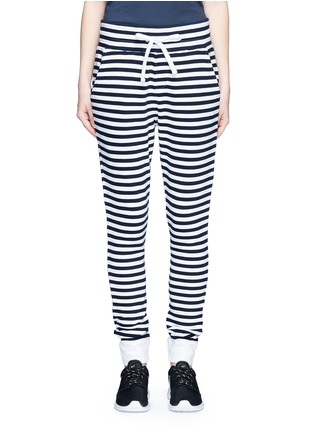 Main View - Click To Enlarge - The Upside - 'The Como' stripe French terry sweatpants