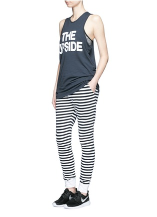 Figure View - Click To Enlarge - The Upside - 'The Como' stripe French terry sweatpants