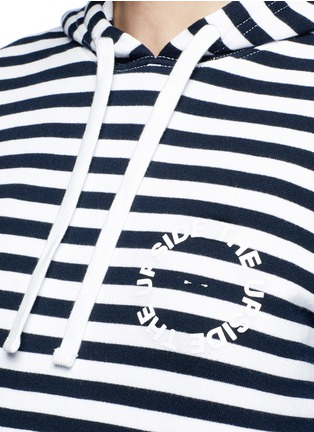 Detail View - Click To Enlarge - The Upside - 'Rimini' stripe French terry hoodie