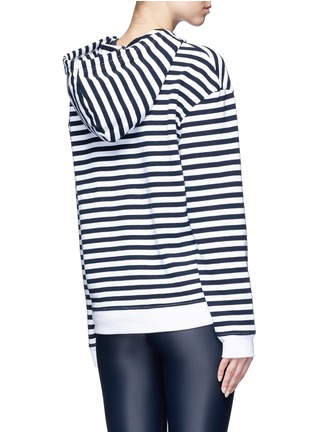 Back View - Click To Enlarge - The Upside - 'Rimini' stripe French terry hoodie