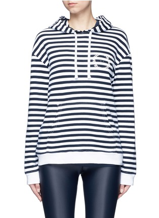 Main View - Click To Enlarge - The Upside - 'Rimini' stripe French terry hoodie