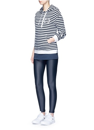 Figure View - Click To Enlarge - The Upside - 'Rimini' stripe French terry hoodie