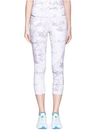 Main View - Click To Enlarge - Alala - 'White Palm' captain performance crop tights