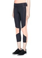 Blocked performance crop tights