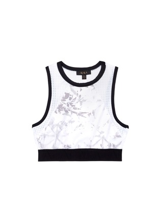 Main View - Click To Enlarge - Alala - 'White Palm' crop tank