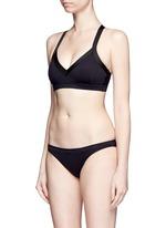 Compression fabric bikini bottoms