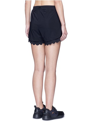 Back View - Click To Enlarge - Koral - 'Loop' elastic seamless scalloped edge shorts