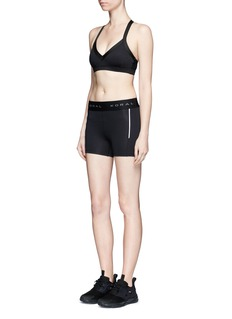 KORAL'Emblem' logo waistband performance shorts