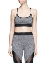 'Lucent' lattice back sports bra