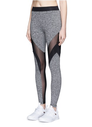 Front View - Click To Enlarge - Koral - 'Frame' powermesh panel jersey leggings