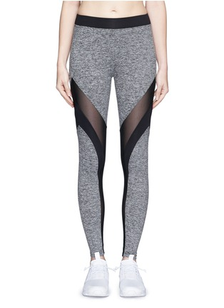 Main View - Click To Enlarge - Koral - 'Frame' powermesh panel jersey leggings