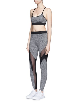 Figure View - Click To Enlarge - Koral - 'Frame' powermesh panel jersey leggings