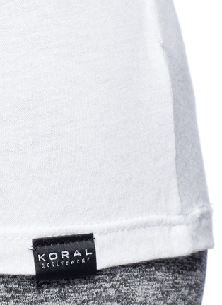 Detail View - Click To Enlarge - Koral - 'Aura' crisscross back modal-cotton top
