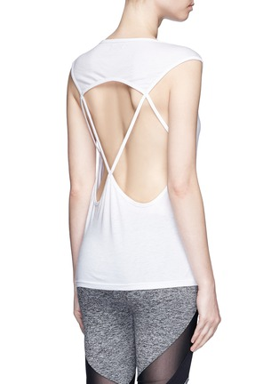 Back View - Click To Enlarge - Koral - 'Aura' crisscross back modal-cotton top