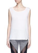 'Aura' crisscross back modal-cotton top