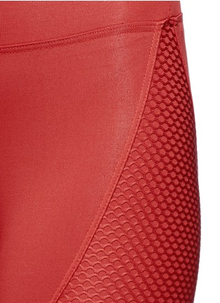 Detail View - Click To Enlarge - KORAL - 'Sector' mesh panel leggings