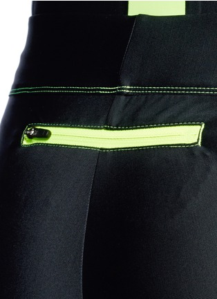 Detail View - Click To Enlarge - Laain - Mesh panel performance jersey 3/4 leggings