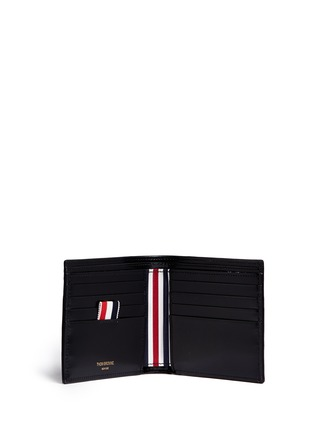 Thom Browne - Zen garden embossed leather bifold wallet