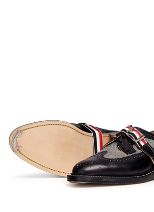 - Thom Browne - Glen plaid and leather longwing Derbies