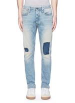 'Razor' patchwork selvedge denim jeans