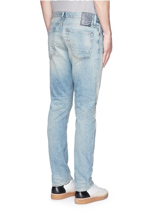 Back View - Click To Enlarge - Denham - 'Razor' patchwork selvedge denim jeans