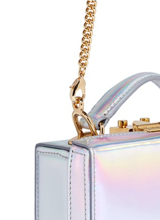 - Mark Cross - 'Grace Mini Box' holographic leather trunk