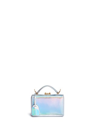 Main View - Click To Enlarge - Mark Cross - 'Grace Mini Box' holographic leather trunk