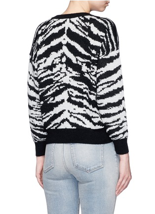 Back View - Click To Enlarge - Saint Laurent - Brushed tiger head jacquard sweater