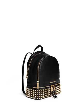 Front View - Click To Enlarge - Michael Kors - 'Rhea' stud small leather backpack