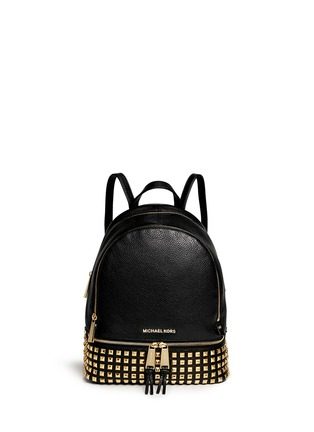 Main View - Click To Enlarge - Michael Kors - 'Rhea' stud small leather backpack