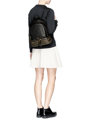 Figure View - Click To Enlarge - Michael Kors - 'Rhea' stud small leather backpack