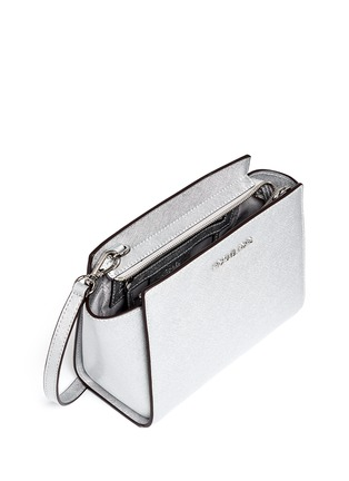 Detail View - Click To Enlarge - Michael Kors - 'Selma' medium saffiano leather messenger bag