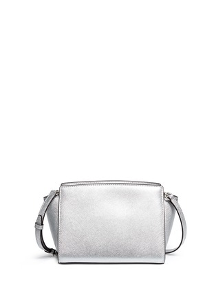 Back View - Click To Enlarge - Michael Kors - 'Selma' medium saffiano leather messenger bag